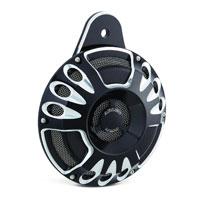 Arlen Ness Deep Cut Black Universal Horn Kit
