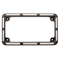 Arlen Ness Slot Track Black License Plate Frame