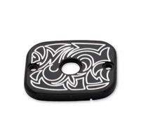 Arlen Ness Black Engraved Hydraulic Clutch Master Cylinder Cover