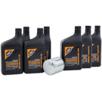 Milwaukee Twins Complete Oil Change Kit with Conventional Engine Oil