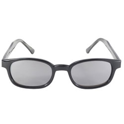 Original KD's Sunglasses-Black Frame with Flames and Silver Mirror Lens