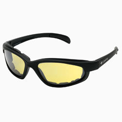 Chap'el C-1 Black Frame/Night Driving Lens Padded Sunglasses