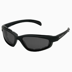 Chap'el C-1 Black Frame/Smoke Lens Padded Sunglasses