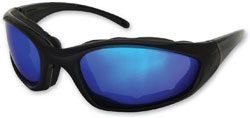 Chap'el C-1 Black Frame/Blue RV Lens Padded Sunglasses