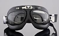 J&P Cycles® Contoured Lens Goggles, Black Frame
