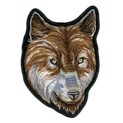 Hot Leathers Wolf Head Embroidered Patch