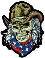 Cowboy Skull Embroidered Patch