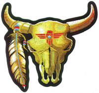 Bull Skull Embroidered Patch