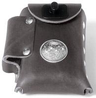 Eagle Leather Cigarette Case with Concho