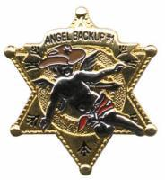 Gunz 6 Point Police Angel Pin