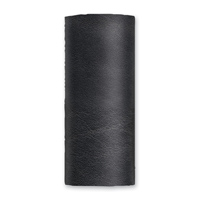 Hair Glove Solid Black Leather Hair Wrap