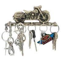 J&P Cycles® Vintage Bike Wall-Mounted Motorcycle Key Rack