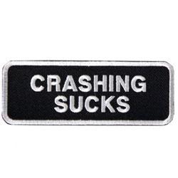 Crashing Sucks Embroidered Patch