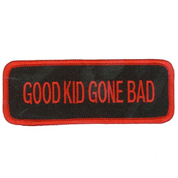 GoodSports Good Kid Gone Bad Embroidered Patch
