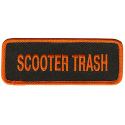 Scooter Trash Embroidered Patch