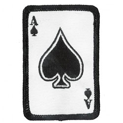 Ace Of Spades Embroidered Patch