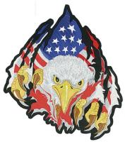 Lethal Threat Rip-N-Tear Eagle Embroidered Patch