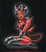 Lethal Threat Devil Girl Embroidered Patch
