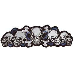 Lethal Threat String of Skulls Embroidered Patch