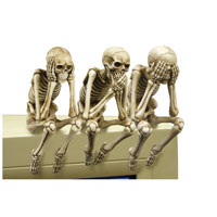Pacific Trading See, Hear, Speak No Evil Skeleton PC Topper