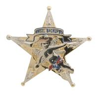 Gunz 5 Point Police Star Pin