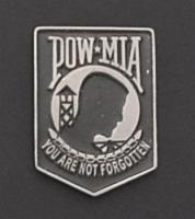 POW-MIA Hand Carved Pewter Pin