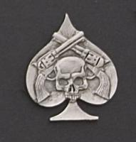 Pistols Hand Carved Pewter Pin