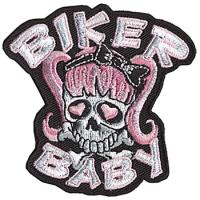 Biker Baby Embroidered Patch