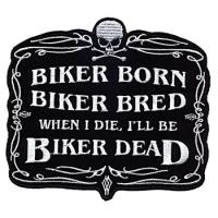 Biker Born Embroidered Patch