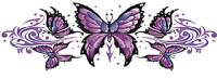 Lethal Threat Tribal Butterfly Decal