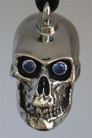 Cranium Train Skull Bell with Blue Eyes