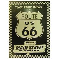 Nostalgic Images Route 66 Kicks Collector Metal Sign