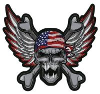 Lethal Threat USA Skull Embroidered Patch