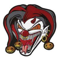 Lethal Threat Jester Face Embroidered Patch