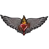 Lethal Threat Winged Heart Embroidered Patch