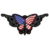 Lethal Threat USA Butterfly Embroidered Patch