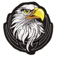 Lethal Threat Eagle Head Embroidered Patch