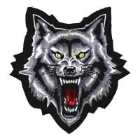 Lethal Threat Wolf head Embroidered Patch