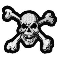 Lethal Threat Skull N Bones Embroidered Patch