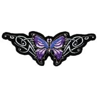 Lethal Threat Purple Butterfly Embroidered Patch