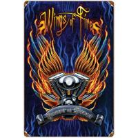 Wings of Fire Heavy Metal Vintage Sign