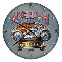 American Collector Classic Bikes Clock