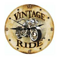 Vintage Ride Wall Clock