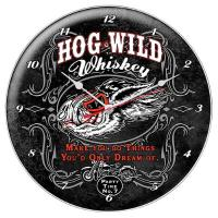 Hog Wild Whiskey Wall Clock