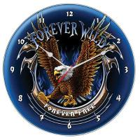 Forever Wild, Forever Free Wall Clock