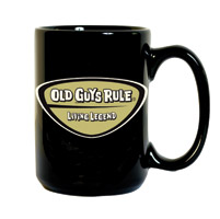Old Guys Rule Legend Badge Coffee Mug