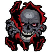 Lethal Threat Skull RIP Embroidered Patch