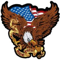 Lethal Threat USA Ride Free Eagle Embroidered Patch
