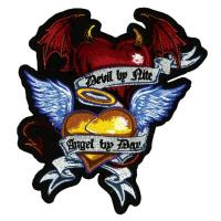 Lethal Threat Angel/Devil Heart Embroidered Patch