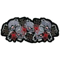 Lethal Threat Skull N Crosses Embroidered Patch